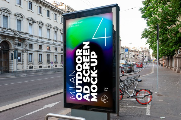Milan Outdoor Advertising Screen Mock-Ups 3