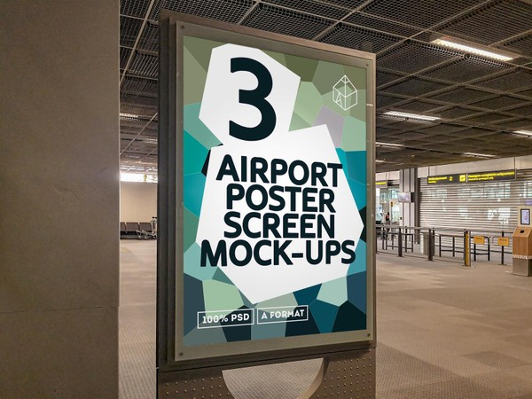 Airport Poster Screen Mock-Ups 8