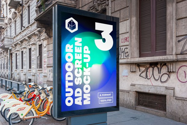Outdoor Advertising Screen Mock-Ups 15 (v5)
