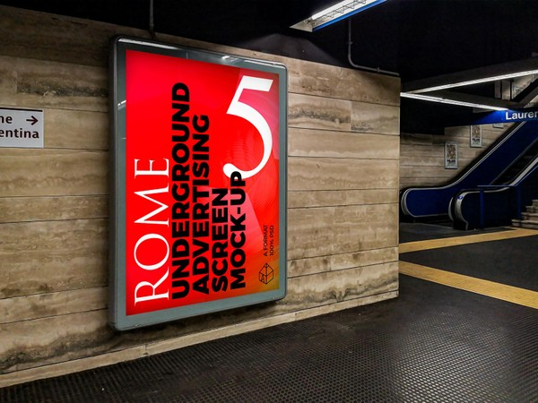 Rome Underground Advertising Screen Mock-Ups 2