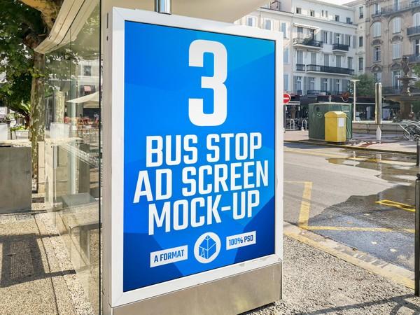 Bus Stop Advertising Screen Mock-Ups 5