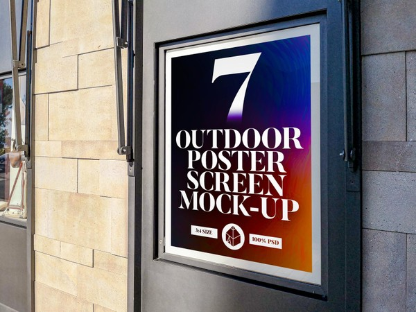 Outdoor Poster Screen Mock-Ups 2