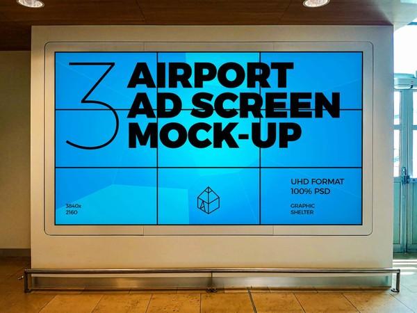 Airport Ad Screen Mock-Ups 6