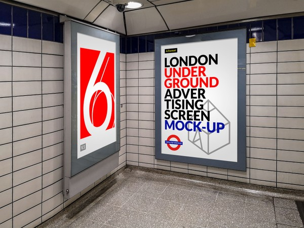 London Underground Advertising Screen Mock-Ups 11