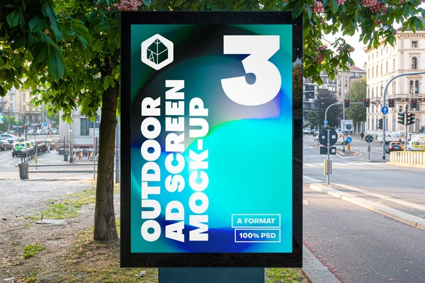 Outdoor Advertising Screen Mock-Ups 15 (v3)