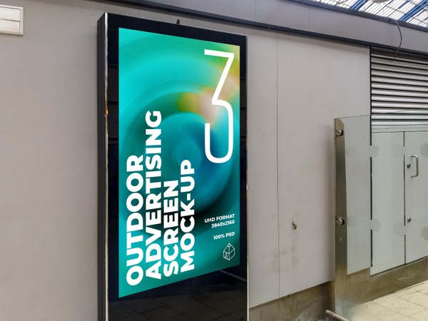 Outdoor Advertising Screen Mock-Ups 16