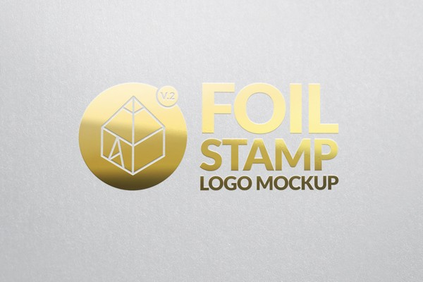 Gold Foil Stamp Logo Mock-Up 2