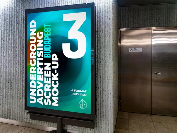 Budapest Underground Ad Screens Mock-Ups 3
