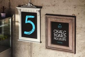 Chalc Board Mockups