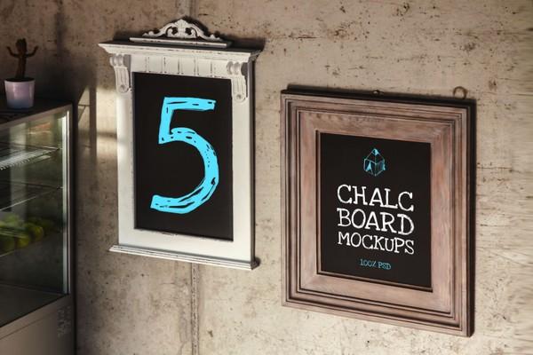Chalk Board Mock-Ups