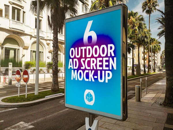Outdoor Advertising Screen Mock-Ups 12 (v.1)