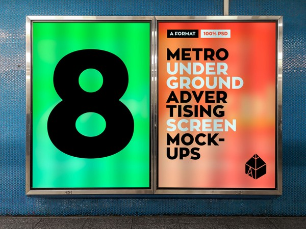 Metro Underground Advertising Screen Mock-Ups 2