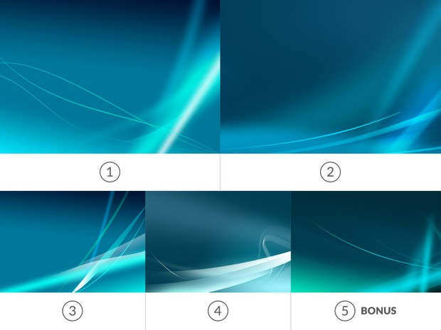 Blue Neon Abstract Backgrounds