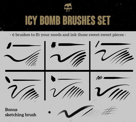 INKING BRUSHES.