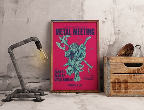 Metal Gig poster template