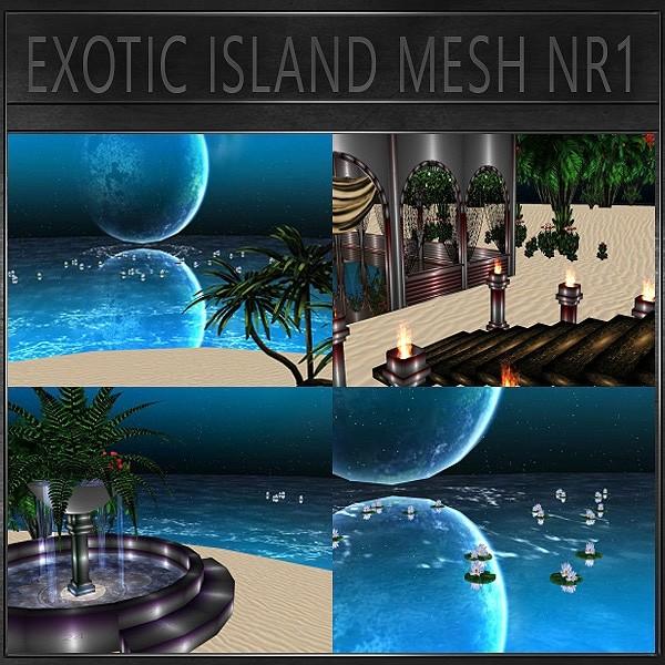 J&A-EXOTIC ISLAND MESH NR1