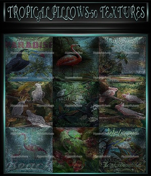 A~TROPICAL PILLOWS-50 TEXTURES