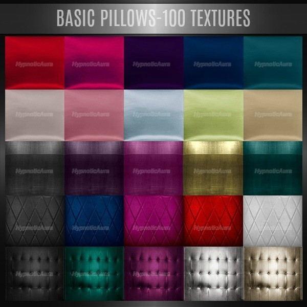 A~BASIC PILLOWS-100 TEXTURES
