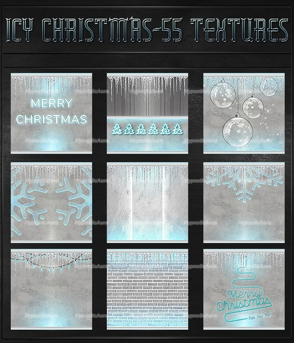 A~ICY CHRISTMAS-55 TEXTURES