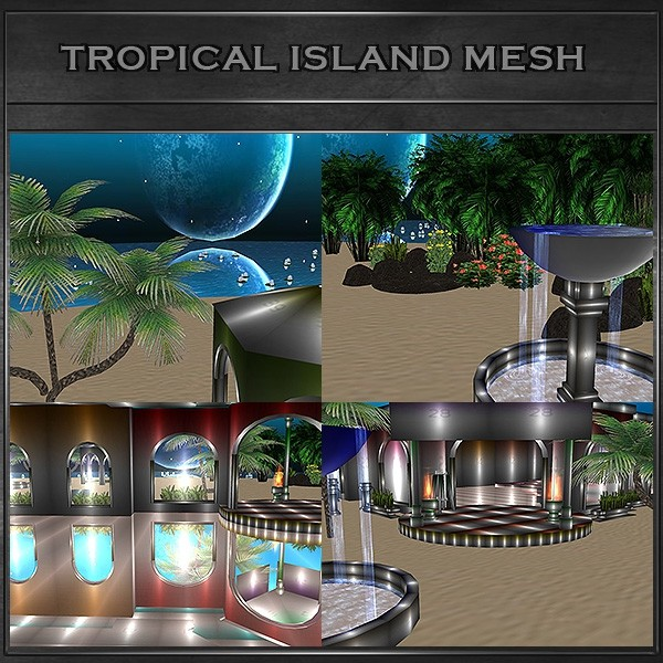 J&A-TROPICAL ISLAND ROOM MESH