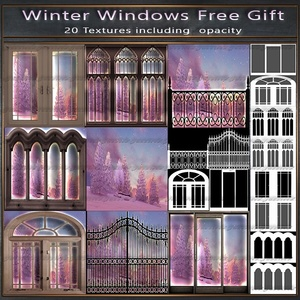 Winter Windows Free Gift Pack 20 Textures