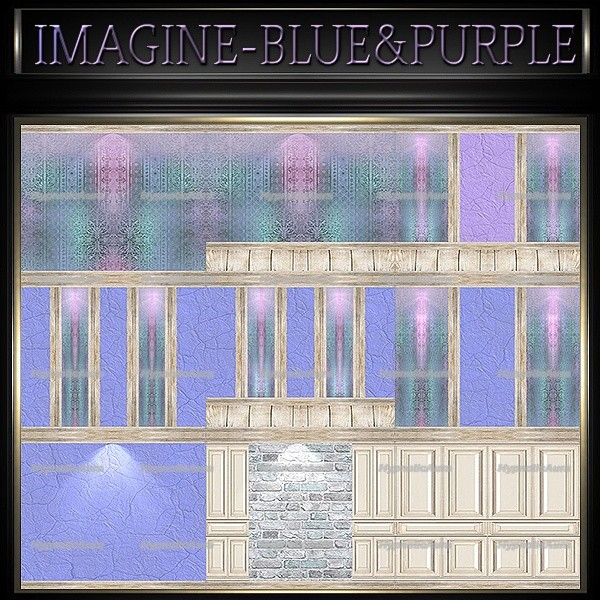 A~IMAGINE BLUE&PURPLE-80 TEXTURES