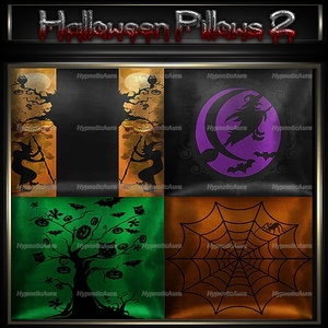 A~HALLOWEEN PILLOWS 2-30 TEXTURES