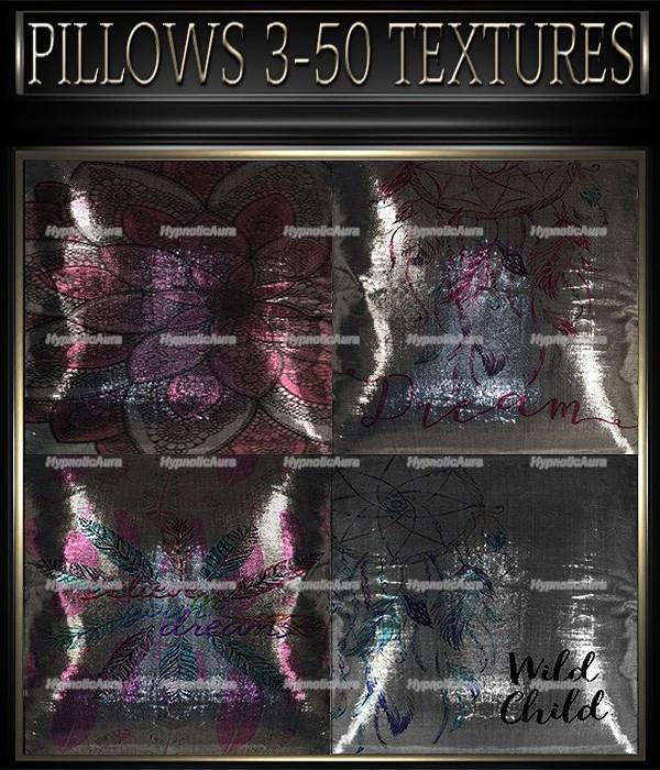 A~PILLOWS 3-50 TEXTURES&GIFT PILLOWS-35 TEXTURES