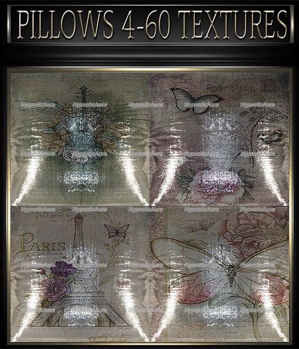 A~PILLOWS 4-60 TEXTURES&GIFT PILLOWS-35 TEXTURES