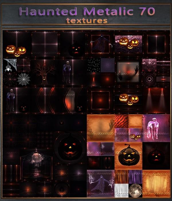Haunted Halloween - Metalic 70 Textures