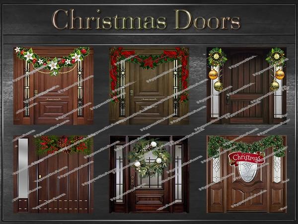 A~CHRISTMAS DOORS-35 TEXTURES
