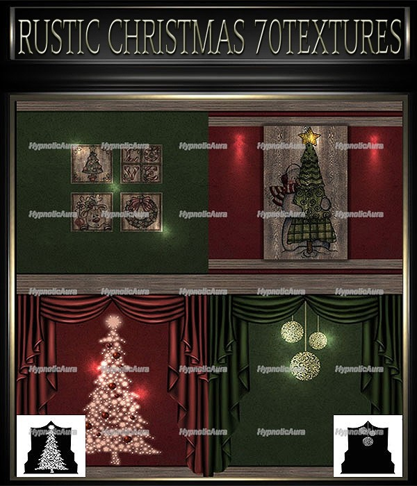 A~RUSTIC CHRISTMAS 70 TEXTURES
