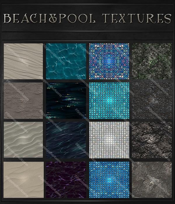 A~BEACH&POOL 200 TEXTURES