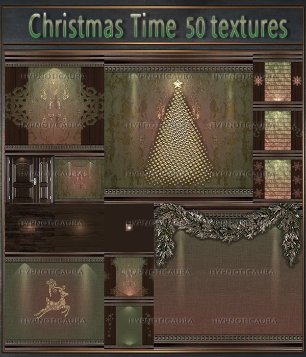 A~ Christmas Time 50 Textures