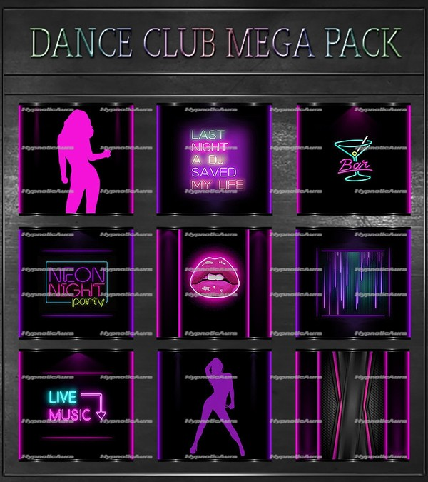 A~DANCE CLUB MEGA PACK-105 TEXTURES