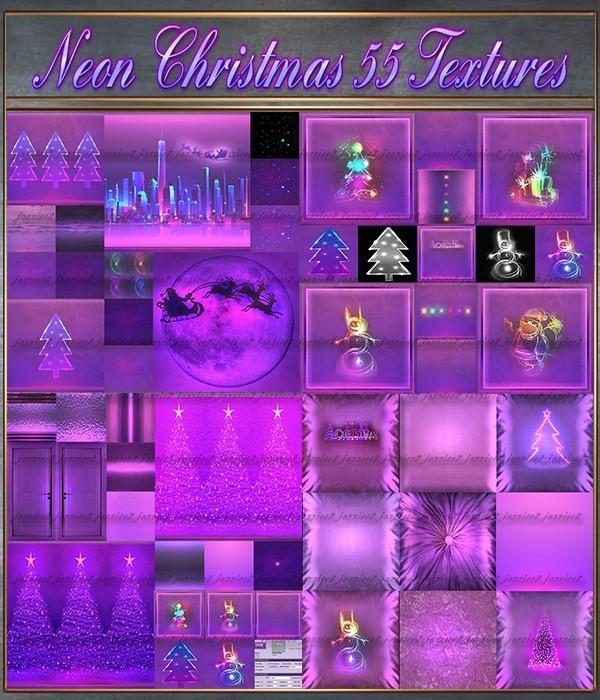 Neon Christmas 55 Textures