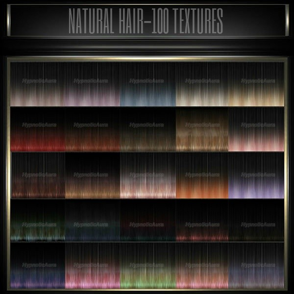 A~NATURAL HAIR-100 TEXTURES& 10 BABYHAIR COLORS