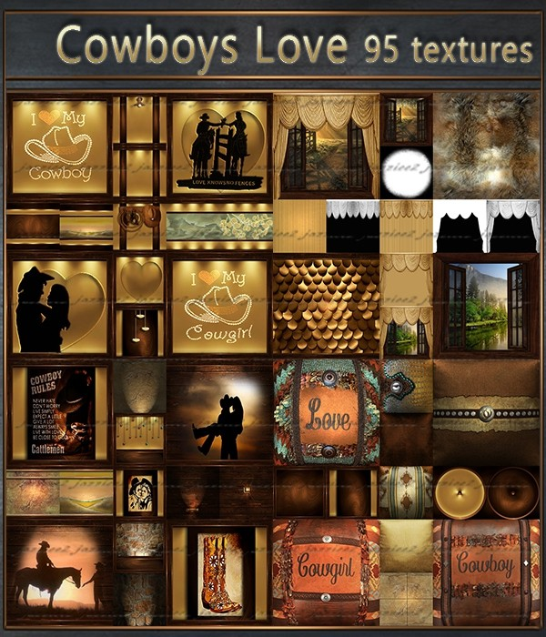 Cowboy's Love a Country Valentine 95 textures