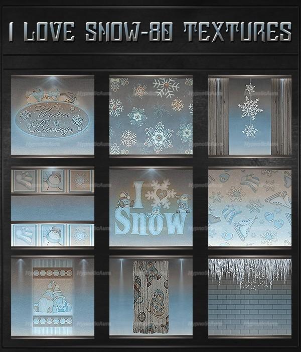 A~I LOVE SNOW-80 Textures