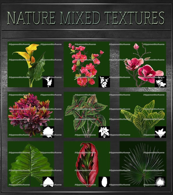A~NATURE-100 MIXED TEXTURES&OPACITIES