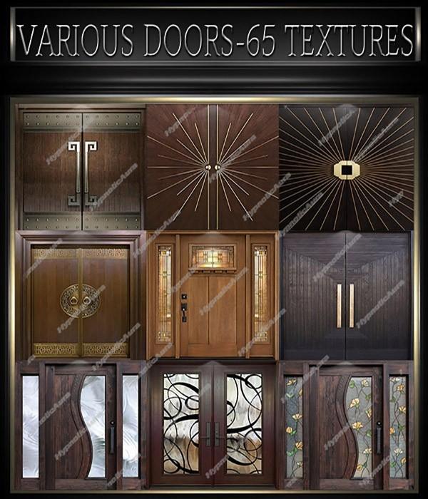 A~VARIOUS DOORS-65 TEXTURES