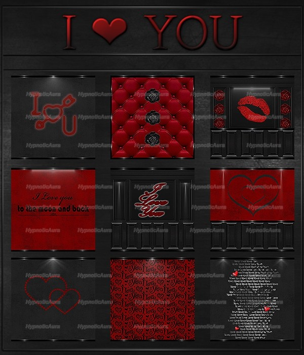I ❤ YOU-50 TEXTURES