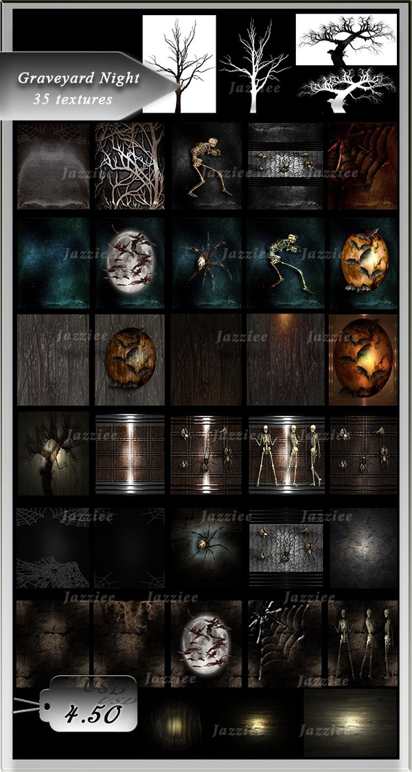 Graveyard Night-35 Textures