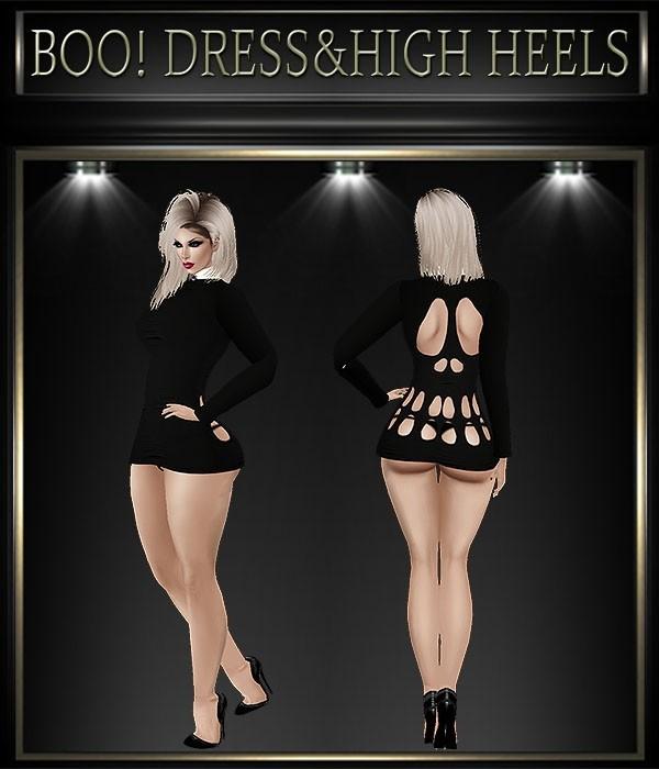 A~BOO! DRESS&HIGH HEELS