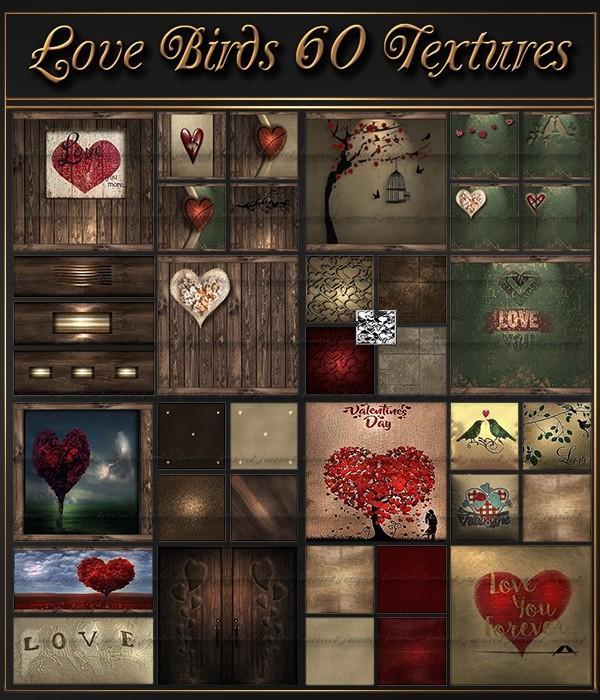 Love Birds 60 Textures