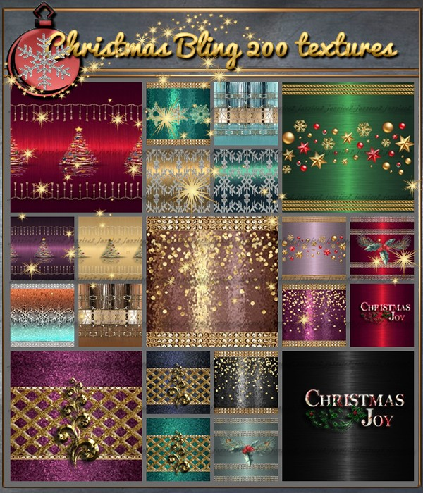 Christmas Bling 200 Textures