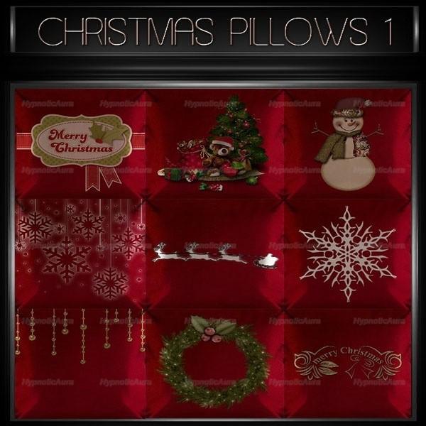 A~CHRISTMAS PILLOWS 1-30 TEXTURES