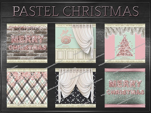 A~PASTEL CHRISTMAS-81 TEXTURES&OPACITIES