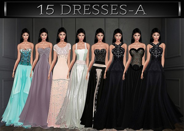 A~GOWNS&MINI DRESSES-15 TEXTURE PACKS