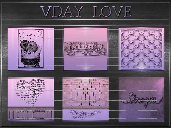 A~VDAY LOVE-80 TEXTURES